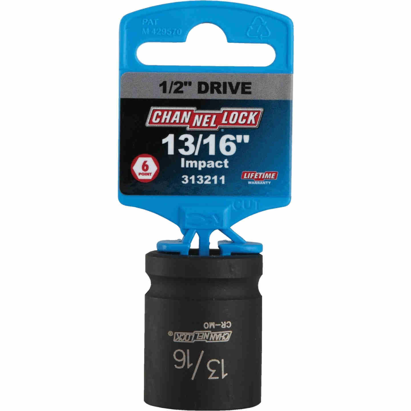 Channellock 1/2 In. Drive 13/16 In. 6-Point Shallow Standard Impact Socket Image 2