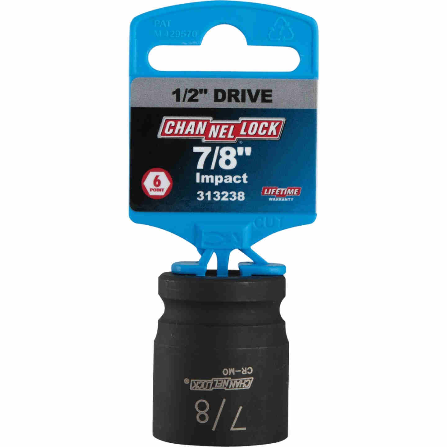 Channellock 1/2 In. Drive 7/8 In. 6-Point Shallow Standard Impact Socket Image 2
