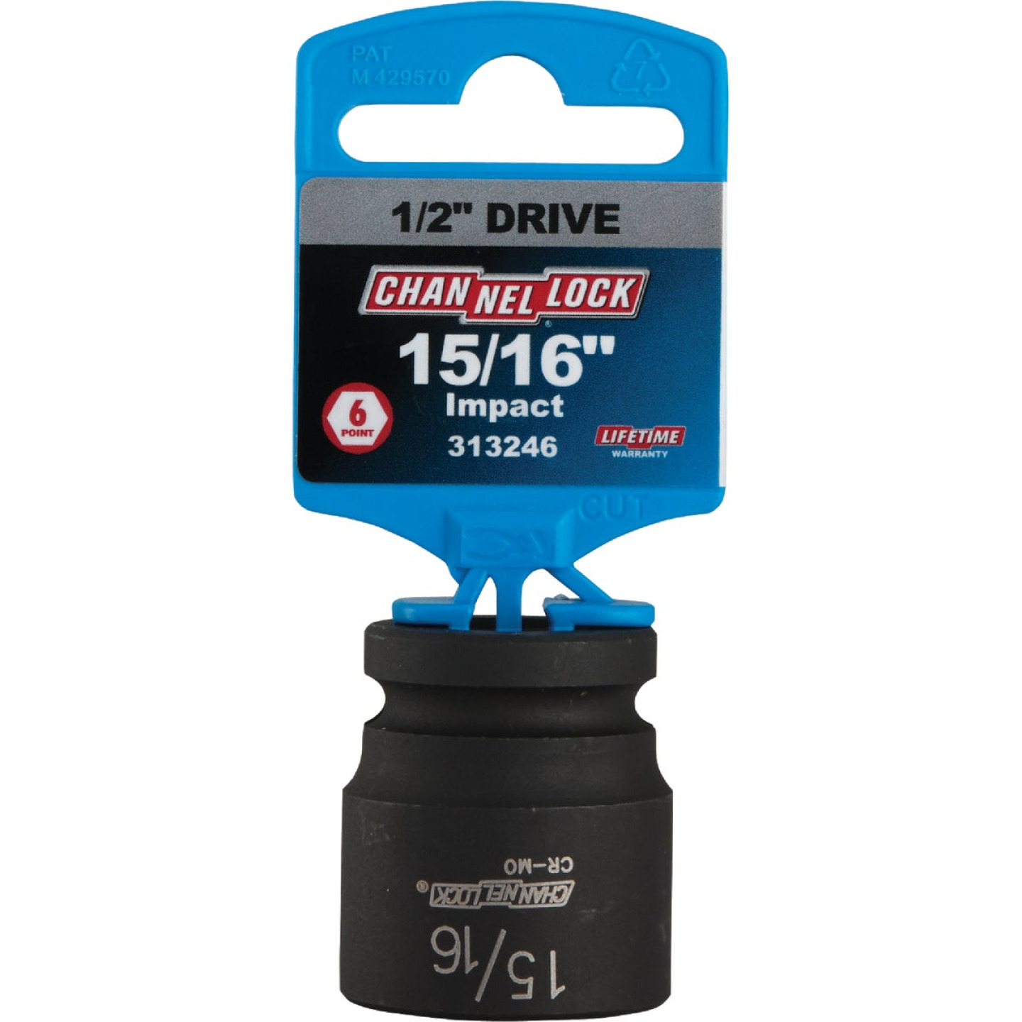 Channellock 1/2 In. Drive 15/16 In. 6-Point Shallow Standard Impact Socket Image 2