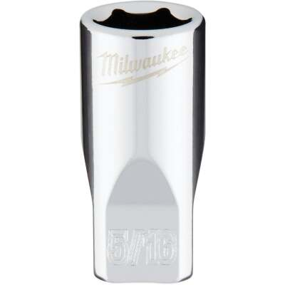 Milwaukee 1/4 In. Drive 5/16 In. 6-Point Shallow Standard Socket with FOUR FLAT Sides