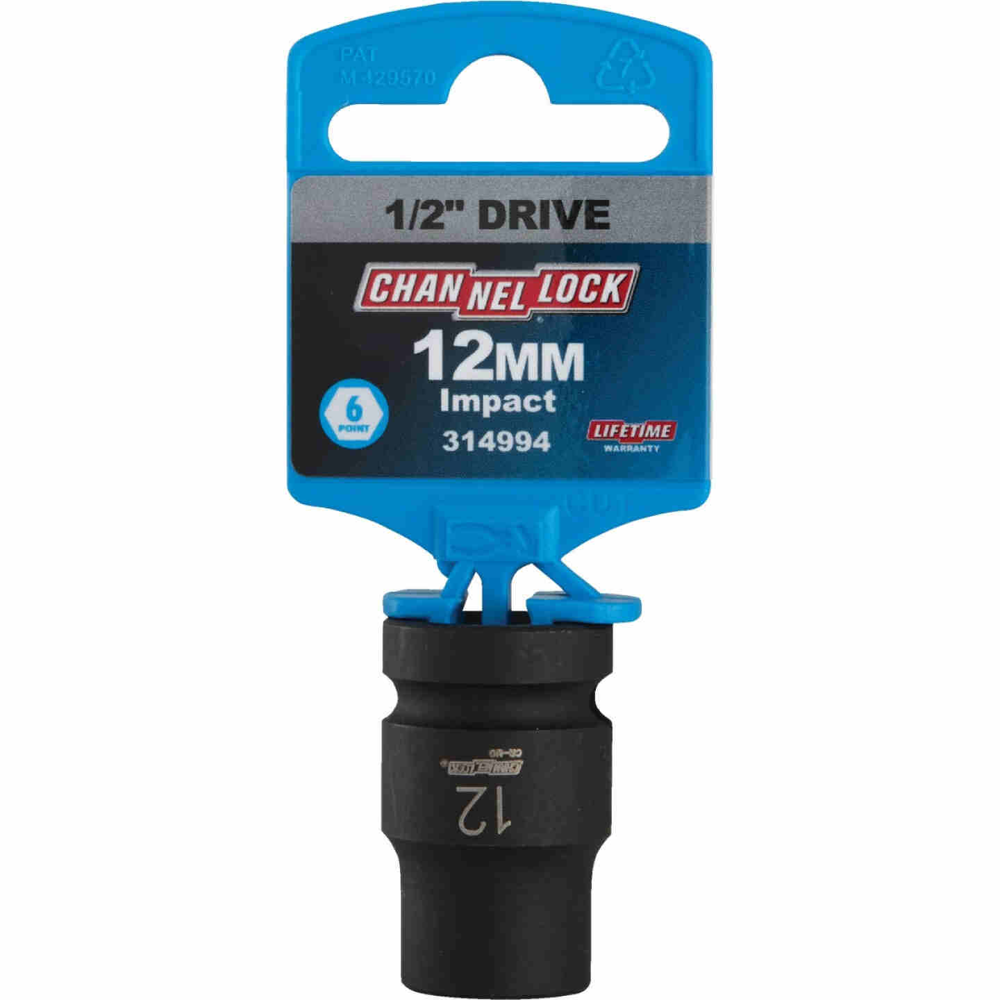 Channellock 1/2 In. Drive 12 mm 6-Point Shallow Metric Impact Socket Image 2
