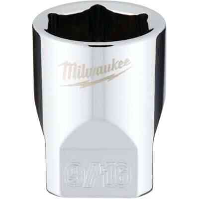 Milwaukee 1/4 In. Drive 9/16 In. 6-Point Shallow Standard Socket with FOUR FLAT Sides