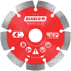Diablo 4 In. Segmented Rim Dry/Wet Cut Diamond Blade Image 1