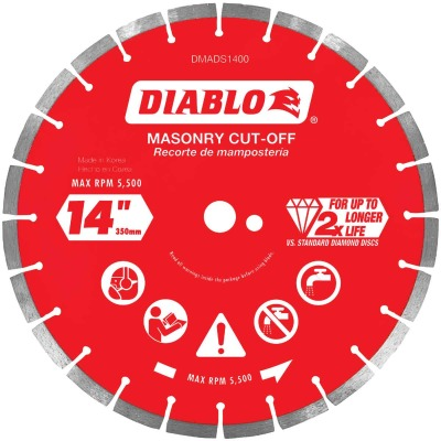 Diablo 14 In. Segmented Rim Dry/Wet Cut Diamond Blade