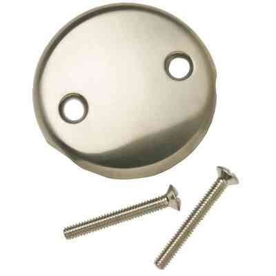 Do it Two-Hole Brushed Nickel Bath Drain Face Plate