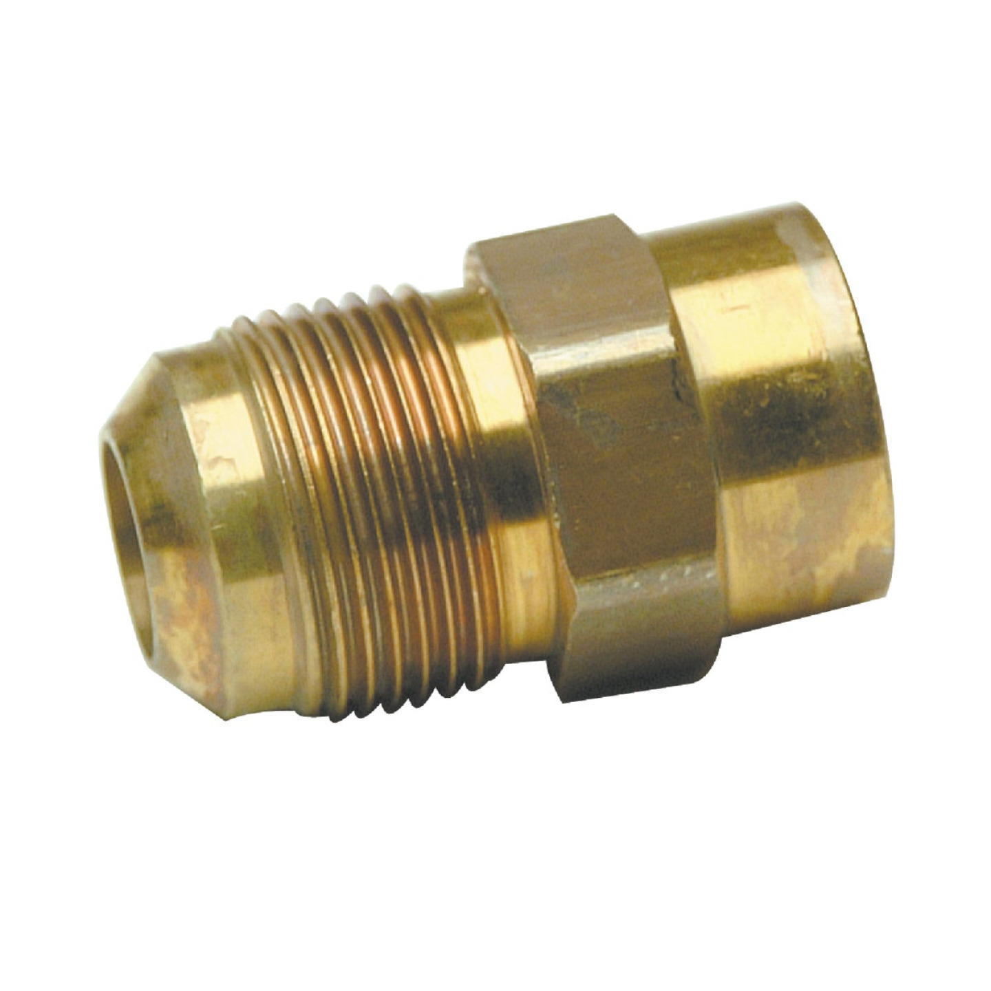 Dormont 5/8 In. OD Male Flare x 1/2 In. FIP Zinc-Plated Carbon Steel Adapter Gas Fitting, Bulk Image 1