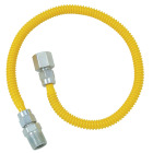 Dormont 3/8 In. OD x 60 In. Coated Stainless Steel Gas Connector, 1/2 In. FIP x 1/2 In. MIP (Tapped 3/8 In. FIP) Image 1