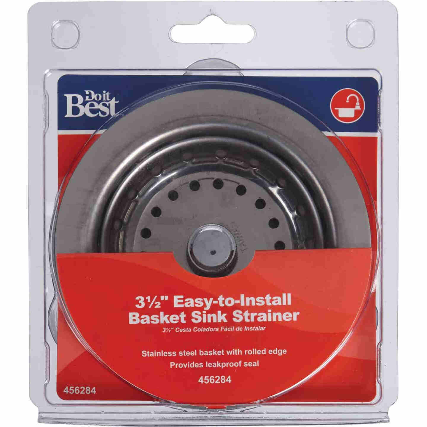 Do it 3-1/2 In. Stainless Steel Basket Strainer Assembly Image 2