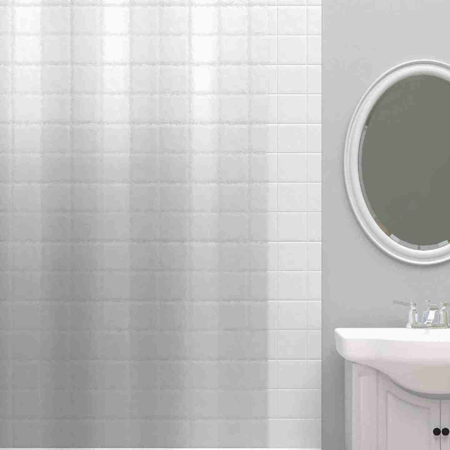 Zenith Zenna Home 72 In. x 72 In. Clear PEVA Heavyweight Shower Curtain Liner Image 1