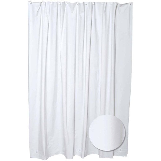 Zenith 70 In. x 72 In. White PEVA Shower Curtain Liner