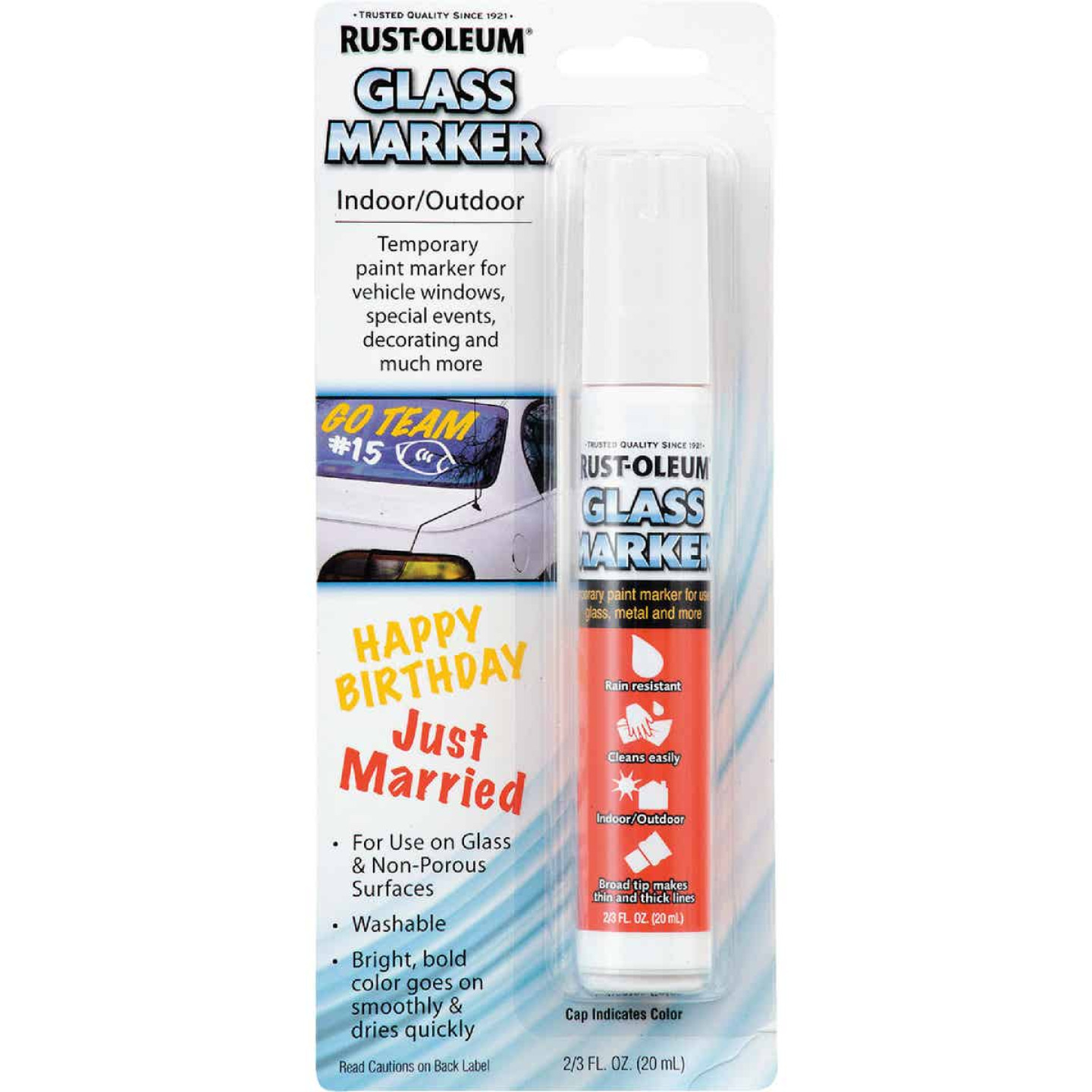 Rust-Oleum 2/3 Oz. White Window Paint Marker Image 1