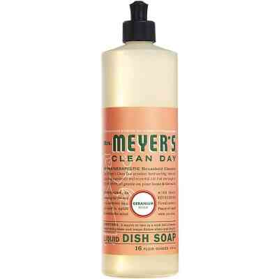 Mrs. Meyer's Clean Day 16 Oz. Geranium Scent Liquid Dish Soap