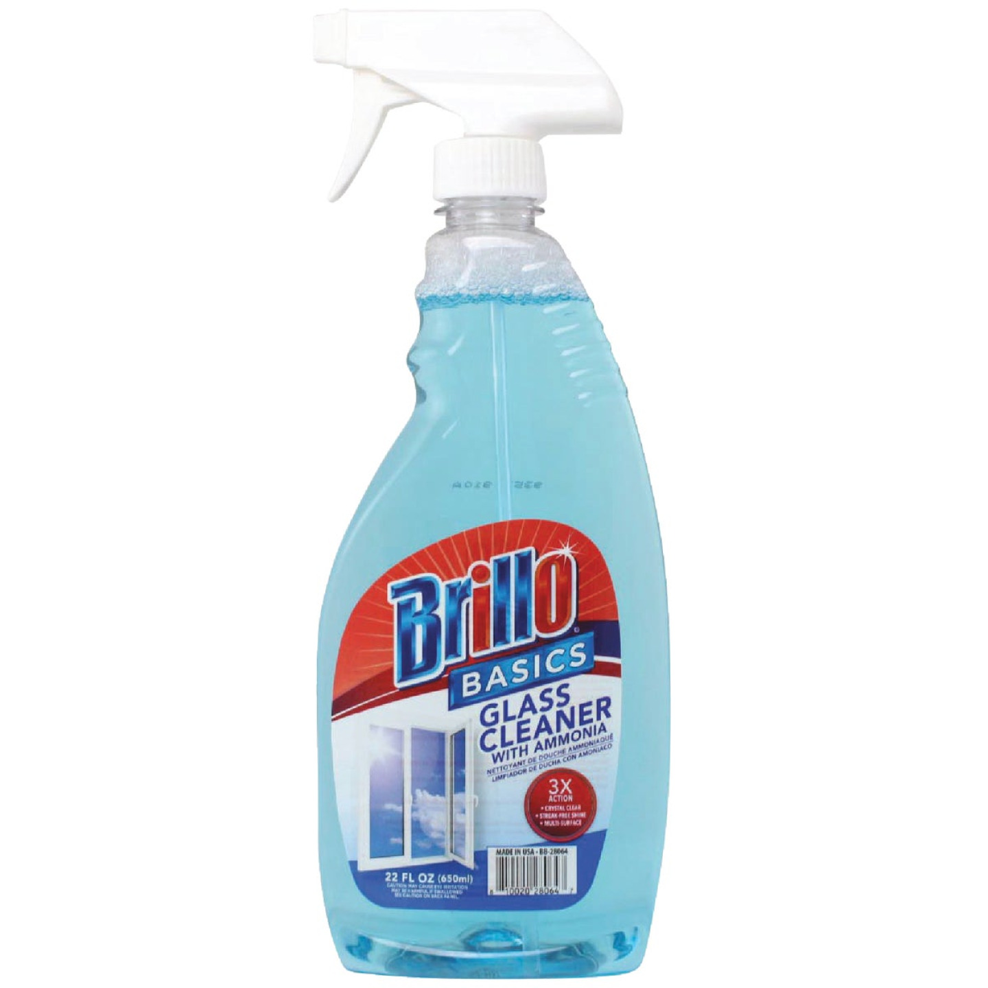 Brillo Basics 22 Oz. Trigger Spray Ammonia Glass & Surface Cleaner Image 1