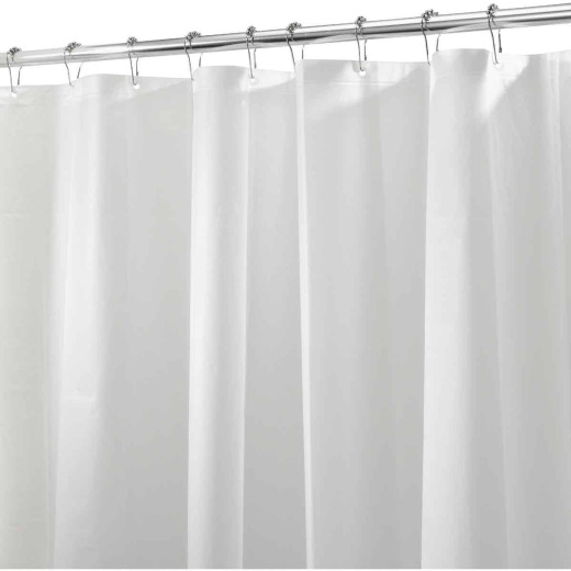 iDesign 72 In. x 72 In. White PEVA Shower Curtain Liner