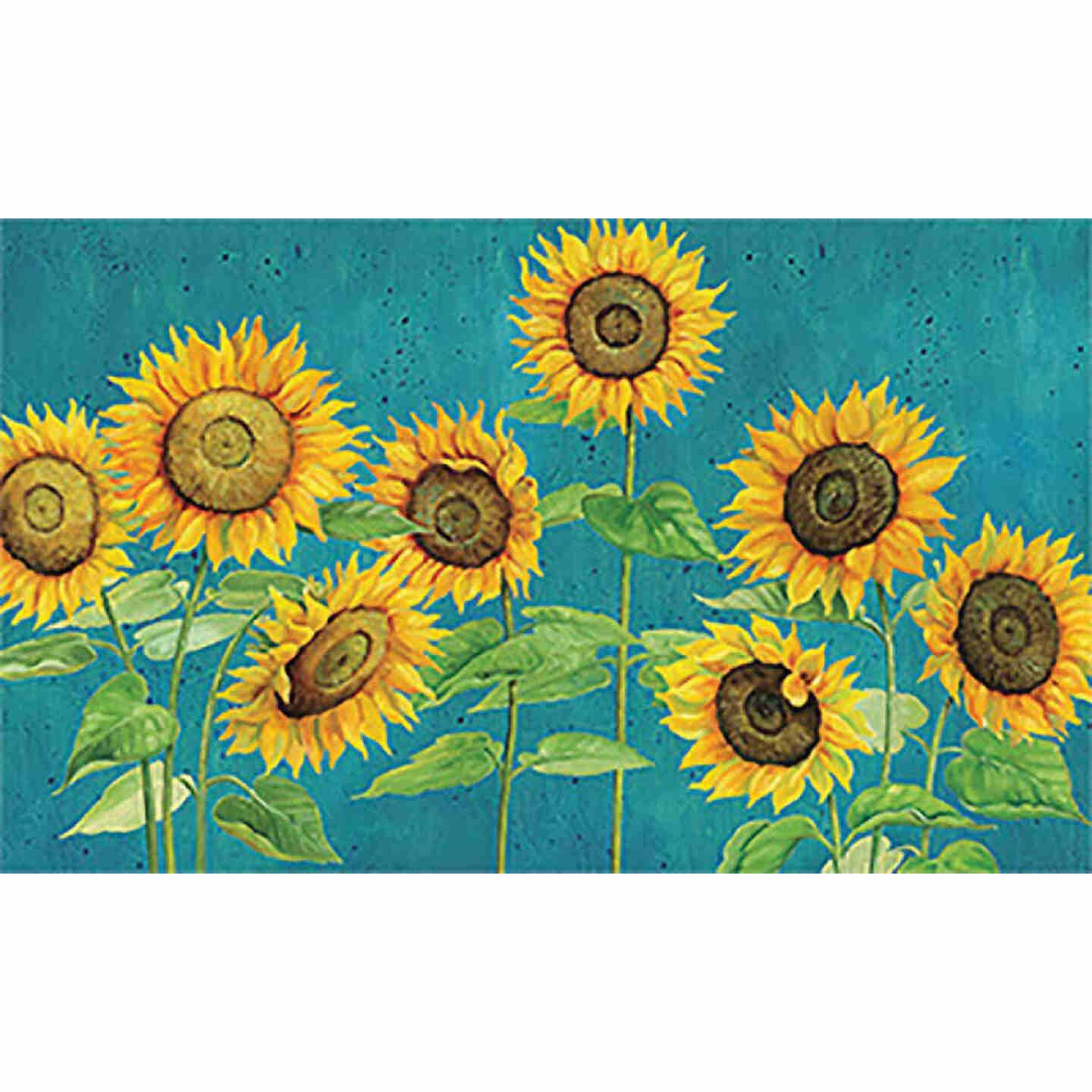 Mohawk Home 18 In. x 30 In. Sunshine Call Sunflowers Kitchen Anti-Fatigue Mat Image 1