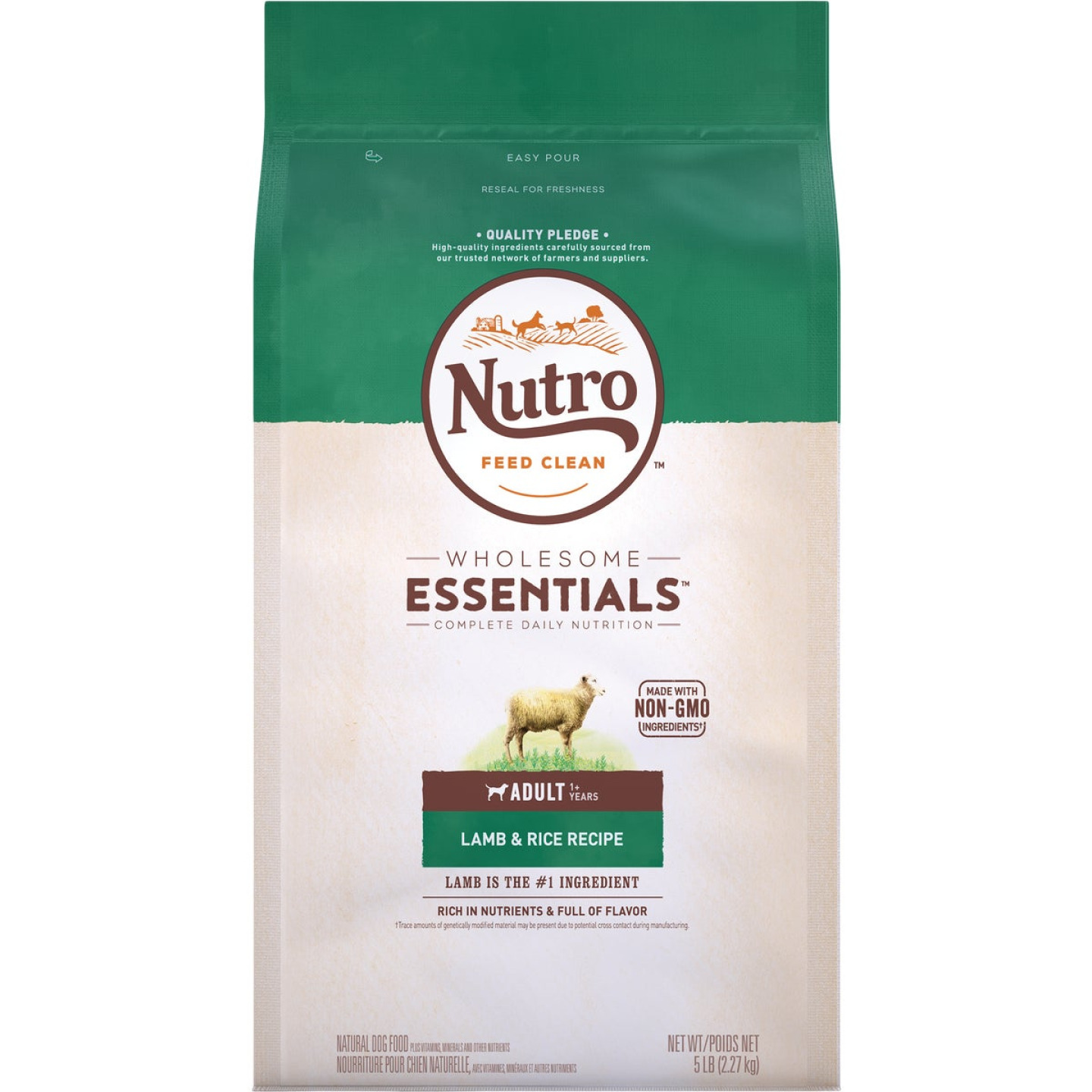 Nutro Wholesome Essentials 5 Lb. Lamb & Rice Adult Dry Dog Food Image 1