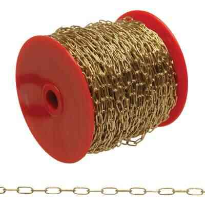 Campbell #3 164 Ft. Brass-Plated Metal Craft Chain