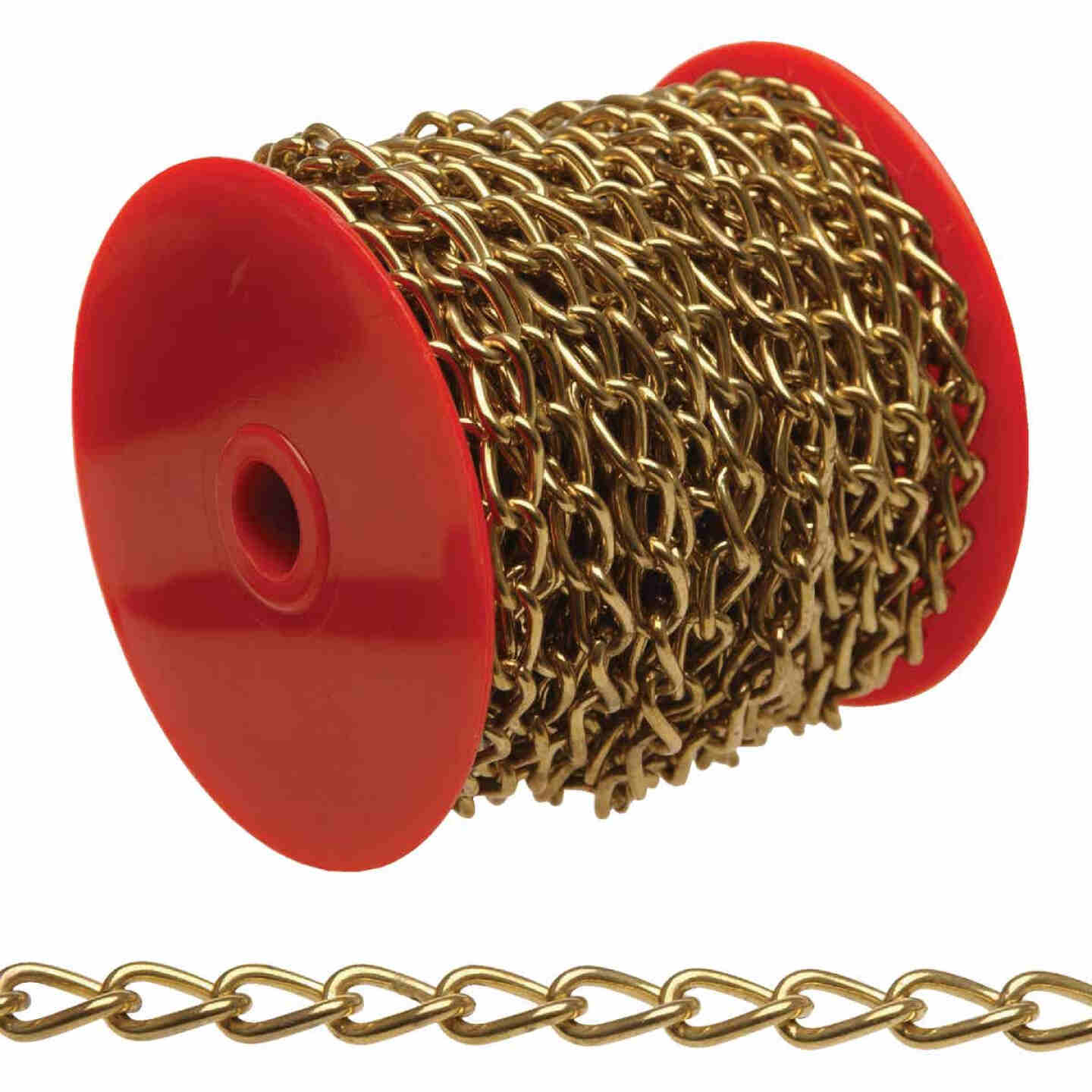 Campbell #200 49 Ft. Brass-Plated Metal Craft Chain Image 1