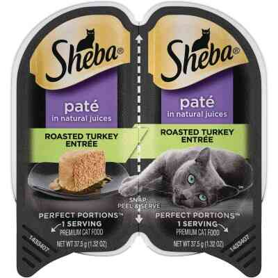 Sheba Perfect Portions Pate 2.6 Oz. Adult Roasted Turkey Wet Cat Food