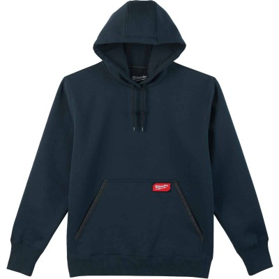 Milwaukee Large Navy Blue Heavy-Duty Pullover Hooded Sweatshirt