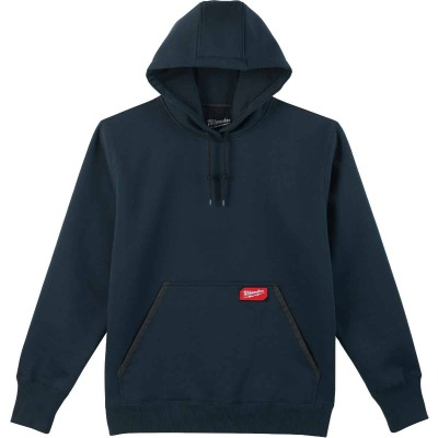 Milwaukee Small Navy Blue Heavy-Duty Pullover Hooded Sweatshirt
