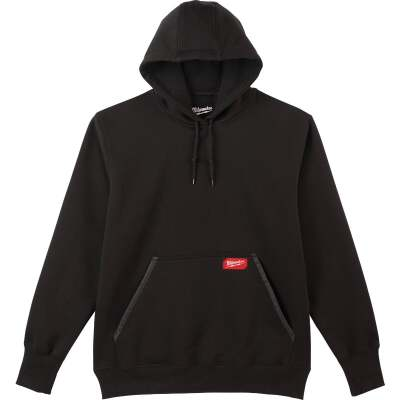 Milwaukee Small Black Heavy-Duty Pullover Hooded Sweatshirt