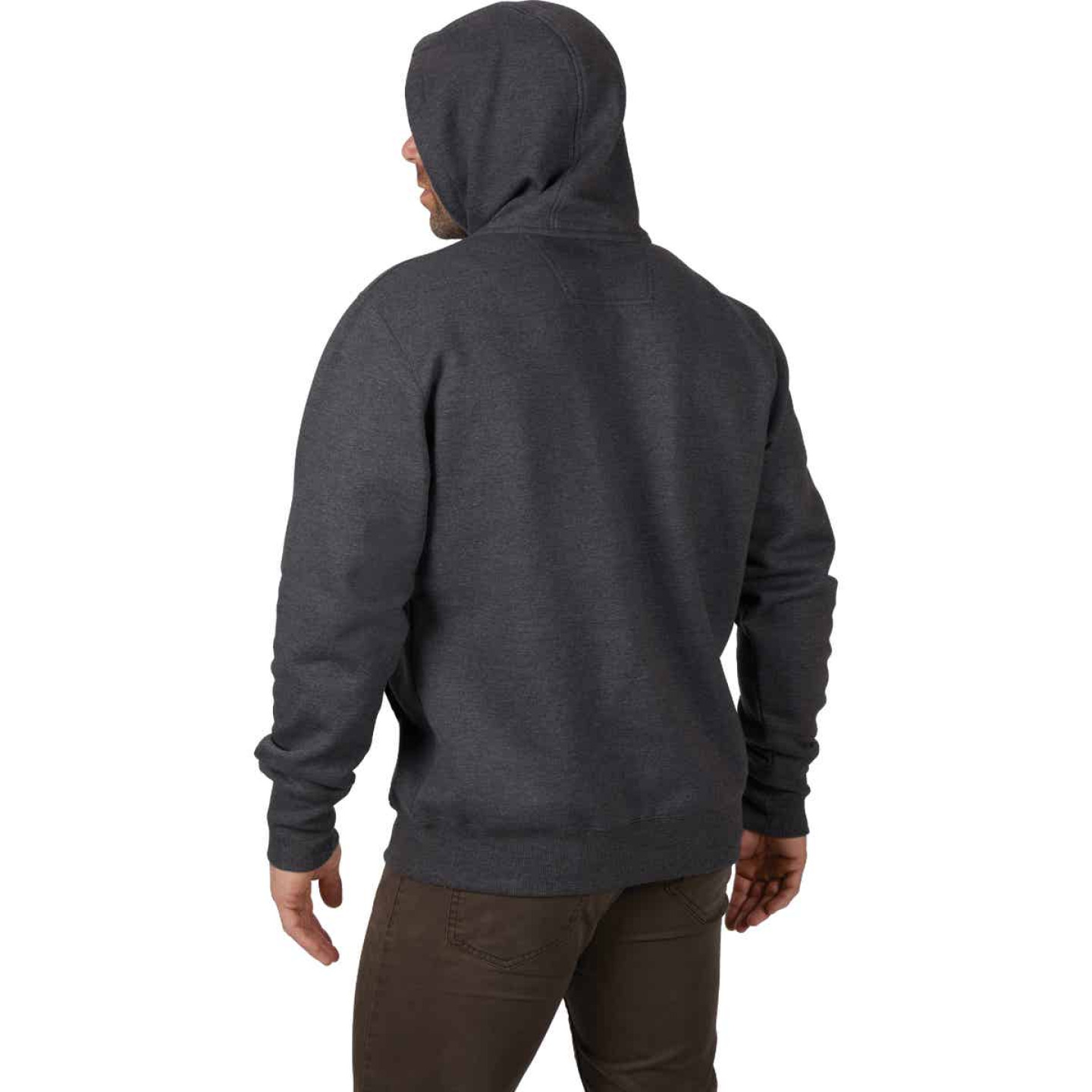 Milwaukee 2XL Gray Heavy-Duty Pullover Hooded Sweatshirt Image 3