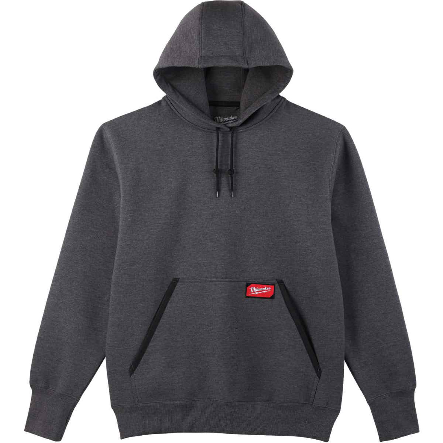 Milwaukee 2XL Gray Heavy-Duty Pullover Hooded Sweatshirt Image 1