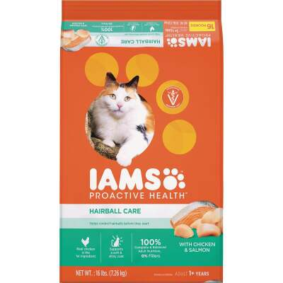 Iams Proactive Health Hairball Care 16 Lb. Chicken & Salmon Flavor Adult Dry Cat Food