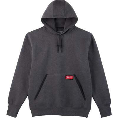 Milwaukee Small Gray Heavy-Duty Pullover Hooded Sweatshirt