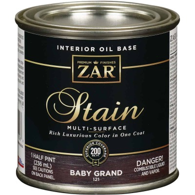 ZAR Oil-Based Wood Stain, Baby Grand, 1/2 Pt.