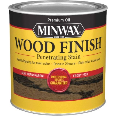 Minwax Wood Finish Penetrating Stain, Ebony, 1/2 Pt.