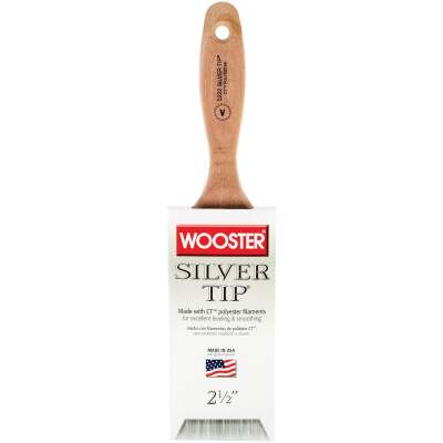 Wooster SILVER TIP 2-1/2 In. Flat Varnish And Paint Brush