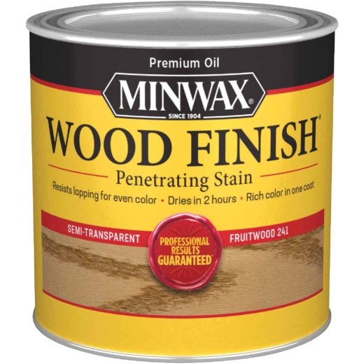 Minwax Wood Finish Penetrating Stain, Fruitwood, 1/2 Pt.