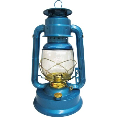 21st Century V&O 13-1/2 In. Blue Liquid Fuel Lantern