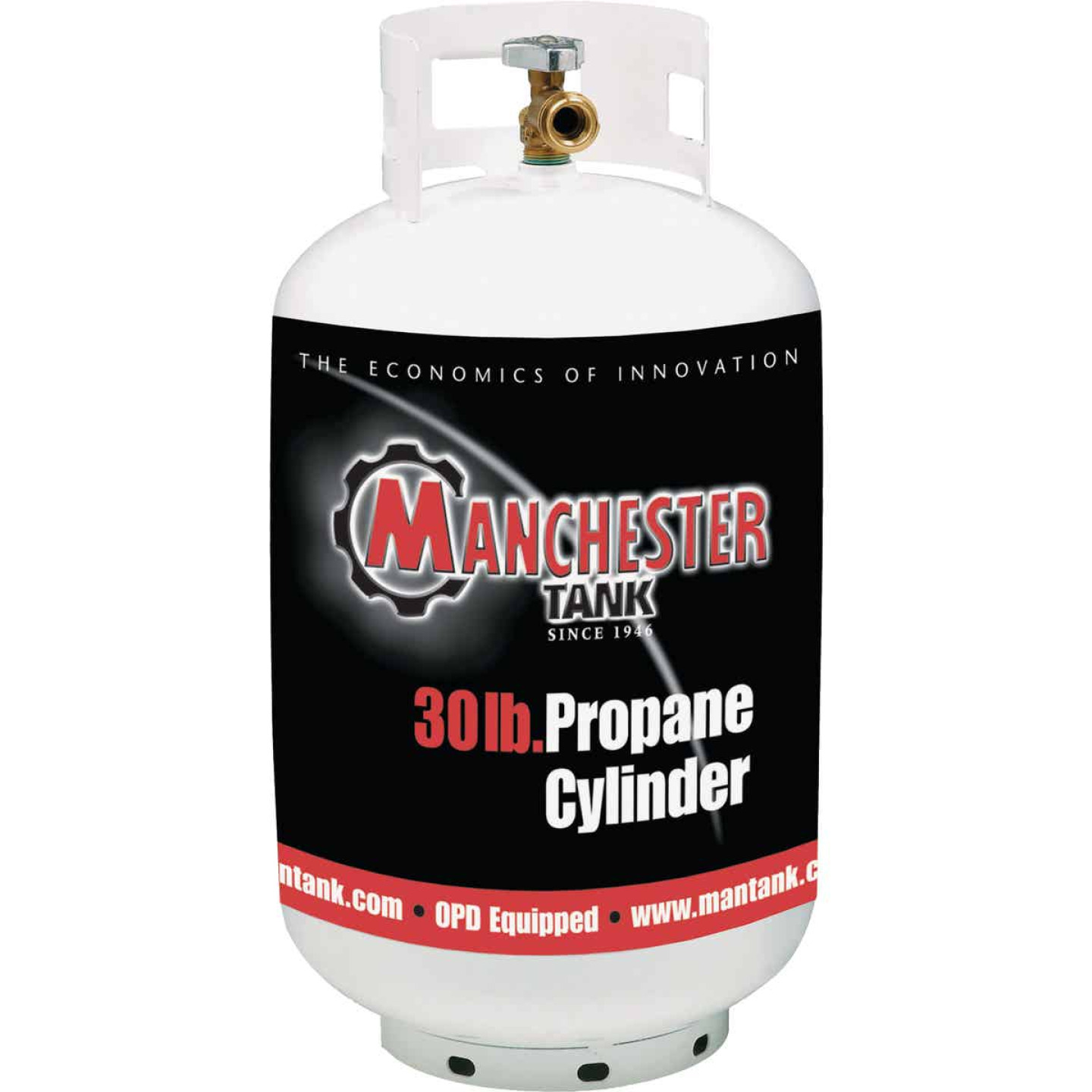 Manchester Tank and Equipment 30 Lb. Capacity Steel TC/DOT Vertical LP Propane Tank Image 1